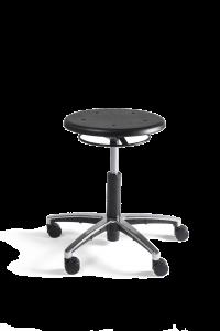 Werkstoel Tabouret laag PU alu