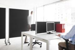 Dutch akoestisch privacypaneel, zwarte stof 120 x 40 cm