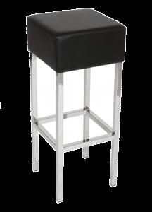 Box kruk Chroom/Zwart