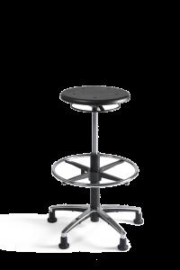 Werkstoel Tabouret hoog PU alu
